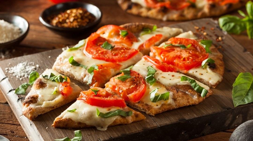 Homemade Flatbread pizza