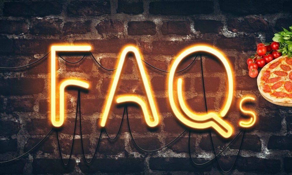 Pizza FAQ's