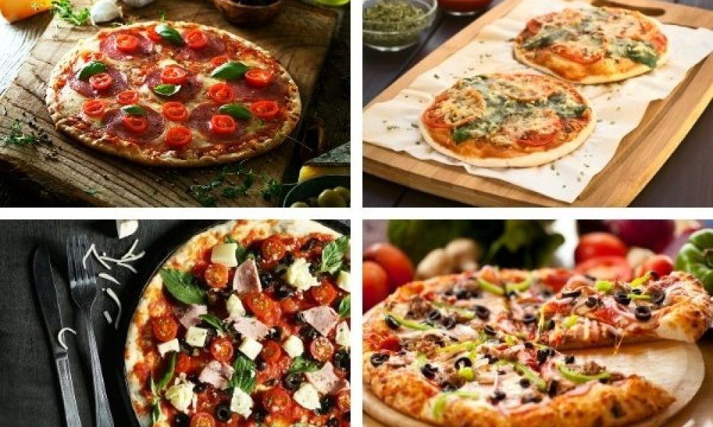 4 types of pizza